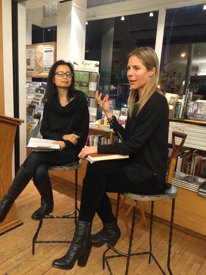 Marie Lee interviewing Dawn Tripp at Brooklyn's Greenlight Bookstore.